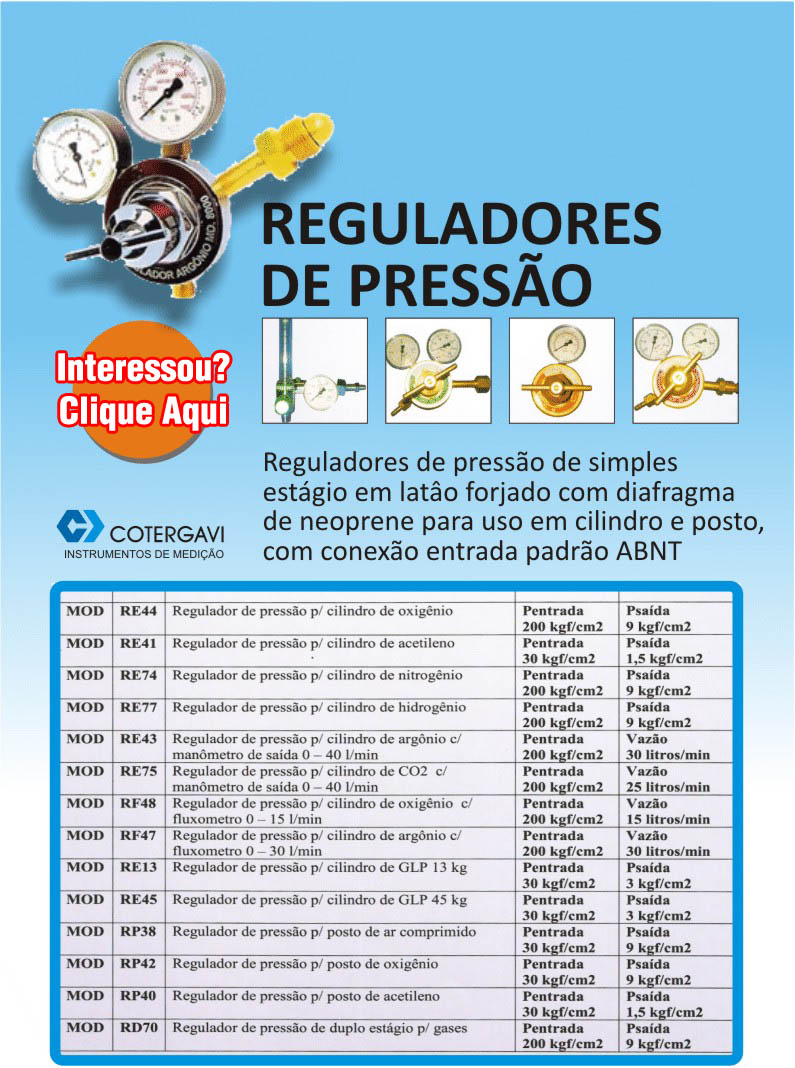 Reguladores de Pressão